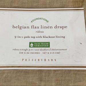 Pottery Barn1 Belgian Flax Linen Drape Panel